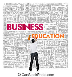 Business word cloud for business and finance concept, Business Education