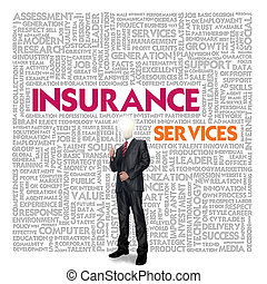 Business word cloud for business and insurance concept,...