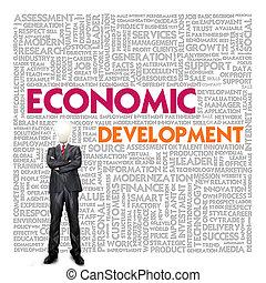 Business word cloud for business concept, Economic Development
