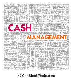 Business word cloud for business concept, Cash management