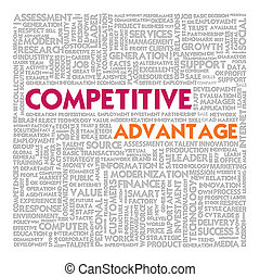 Business word cloud for business concept, competitive advantage