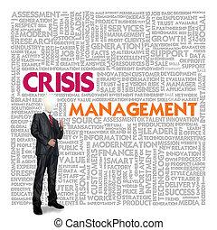 Business word cloud for business concept, Crisis management