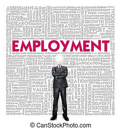 Business word cloud for business concept, Employment for ...
