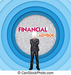 Business word cloud for business concept, FInancial Concept