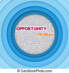 Business word cloud for business concept, Opportunity