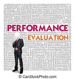 Business word cloud for business concept, Performance