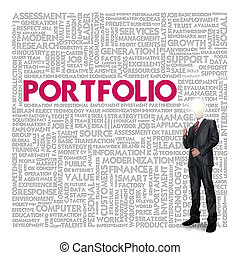 Business word cloud for business concept, portfolio