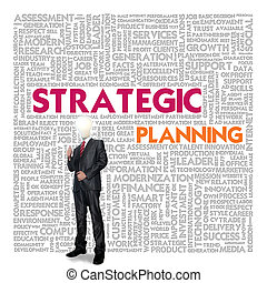 Business word cloud for business concept, Strategic planning