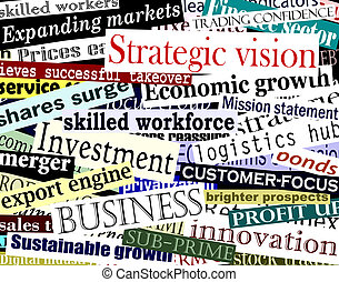 Business word collage - Illustration of business-related...