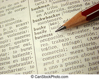 'business' word diction - 'business' word in english-spanish...