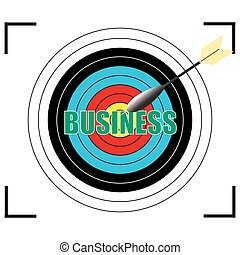 Business word Vector, business concept.