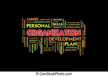 Business wording concept, organization