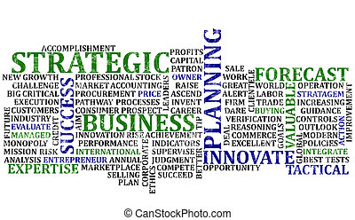 Business Words Collage