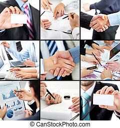 Business work and success - Human hands during work routine