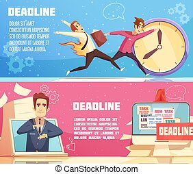 Business Work Deadline Horizontal Banners