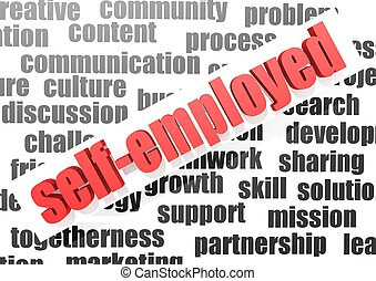 business work of self-employed - Rendered artwork with white...