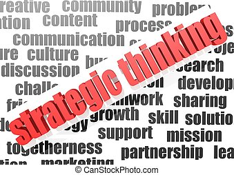 Business work of strategic thinking - Rendered artwork with...