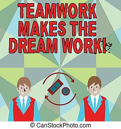 business, work., photo, projection, camaraderie, écriture, ...