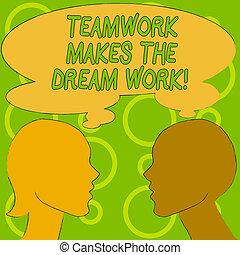 business, work., texte, projection, camaraderie, écriture, ...