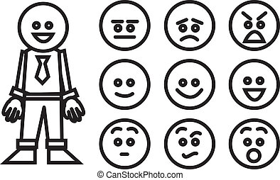 Business Worker Expressions