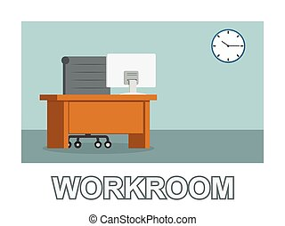 Business workroom photo text style