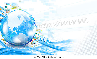 Business world background - Background with world and...