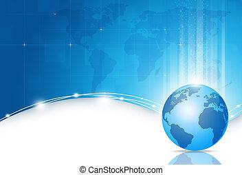 Business World Blue Background
