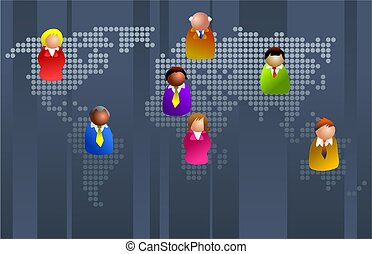 business world - icon executives