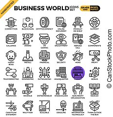Business World Icons - Business World concept detailed line...