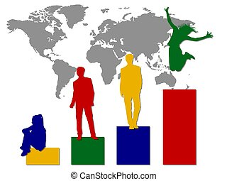 business world statistic color
