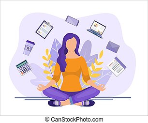 Business yoga concept.