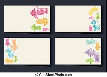 Businesscard template with colorful arrows
