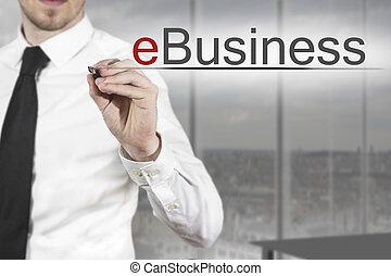 businessman γράφω , ebusiness