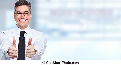 businessman., ευτυχισμένος