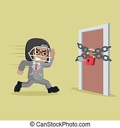 businessman σπάγγος , πόρτα , αφρικανός