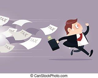 businessman σπάγγος , φορολογώ , μακριά