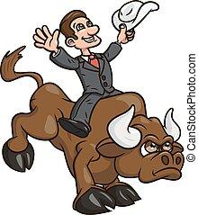 businessman 2, lovaglás, bika