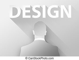 Businessman 3d illustration flat design