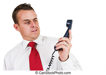 Businessman #43 - Business man being shouted at on the phone