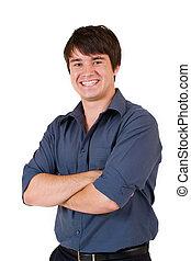 Businessman #55 - Businessman in blue shirt, arms crossed