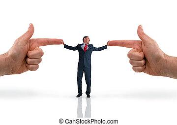 businessman accusation concept