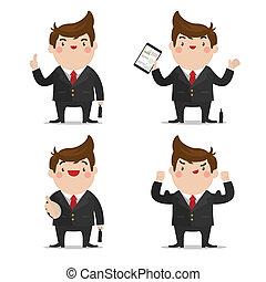 Businessman action set
