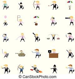 businessman activities set