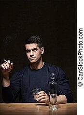 Businessman addicted to vodka
