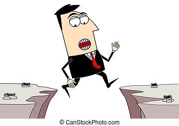 Businessman adversity