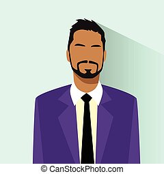 Businessman African American Race Profile Icon Hispanic Male Portrait