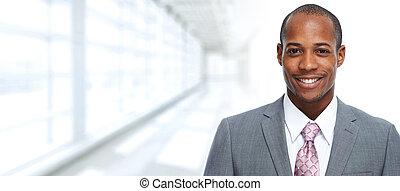 businessman., afrykańska-amerikanka