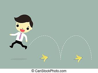 businessman against problem