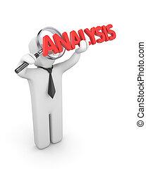 Businessman analyse