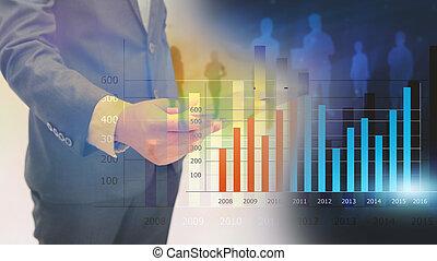 Businessman analysis financial graph,business graph...